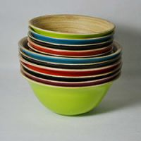 巨匠厂家定制高档环保创意竹制色拉碗,竹水果碗,竹水果盆,手工竹碗