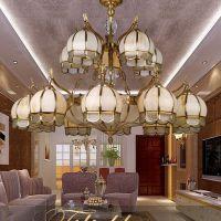 长期供应批发欧式吊灯 美式乡村风格 全铜手工高档灯饰 酒店工程