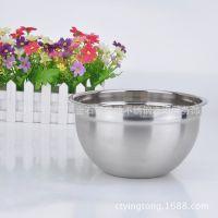 供应不锈钢沙拉盆 加厚加深打蛋盆 和面盆 不锈钢搅拌盆 烘焙用具