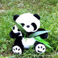 25CM高档仿真母子竹叶熊猫 公仔批发 熊猫厂家直销品牌玩具