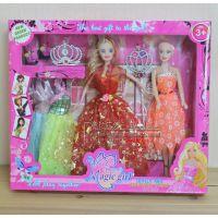 新款创意时尚11寸实身活手美少女芭比娃娃大套装公仔女孩玩具