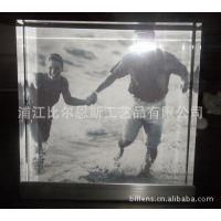 三张照片立体相框/厂家直销/不锈钢外框相框 镭射logo