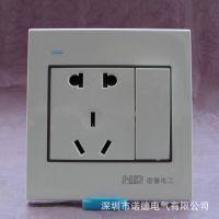 暗装墙壁一位开关二三极电源插座诺德雅白系列墙壁开关五孔插座