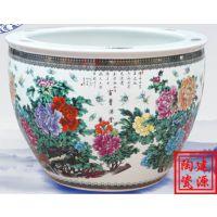 景德镇陶瓷大缸批发 专业定做瓷缸厂 雕刻手绘盆缸价格