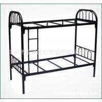 厂家定制上下铺双层铁床 学校公寓方管铁架床 单人上下铁床
