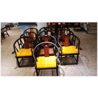 供应红木家具实木圈椅黑巴仿古太师椅中式休闲靠背椅座椅椅子
