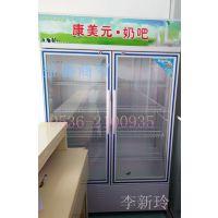 供应2015热销冷藏展示柜390L单开门展示柜潍坊奶吧设备厂家