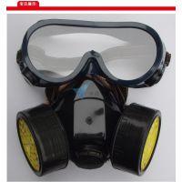 双罐防毒面具二件套 防护面具 防毒口罩 喷漆防护 甲醛