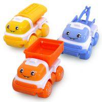 仙品 卡通惯性小吊车 安全环保塑料儿童玩具批发油罐车泥头车拖车