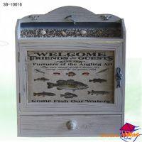 【商博木质工艺】地中海风格,实木仿旧电表箱,挡电箱壁挂10016