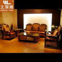 文华藤艺藤沙发藤编沙发组合客厅家具WH8007藤家具厂家直销特惠