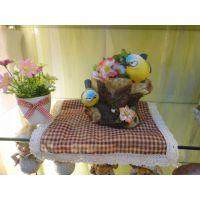 树脂工艺品小鸟花缸创意办公家居礼品家庭装饰动物小鸟家居摆件