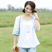 一件代发2014新款女装韩版宽松打底衫上衣 网店加盟 免费装修