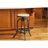 美式/LOFT复古实木可升降酒吧凳欧式酒吧椅子吧椅吧凳圆凳