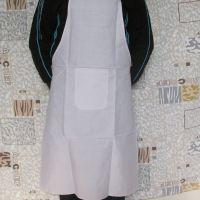厂家生产批发围裙白色涤平面料围裙印字印公司LOGO时尚简约特价