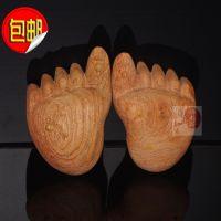 越南红木小工艺品木雕知足常乐手把件 花梨木原木大脚丫佛脚
