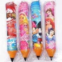 hellokitty迪士尼卡通笔形笔筒笔袋 圆筒拉链笔袋中号 学生礼物