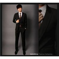 新款男士西服套装韩版修身休闲西装马建三件套职业装新郎伴服