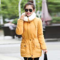 2014冬季新品羽绒服 韩版时尚中长毛毛领收腰显瘦女装羽绒棉服