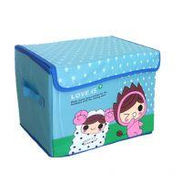万家伴侣 牛津布卡通收纳箱 儿童玩具袜子收纳盒 储物箱整理箱