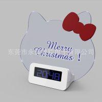 荧光屏电子钟 留言板闹钟 hello kitty 电子钟 写字板电子钟