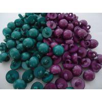 清仓彩色塑料珍珠儿童毛衣纽扣蘑菇扣2色,库存,环保直径1.1