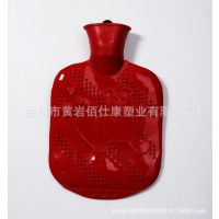 灌水热水袋 新型塑胶暖水宝 环保型大红塑胶热水袋 小号