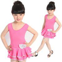儿童舞蹈服练功服少儿体操服 芭蕾舞蹈裙连体女童短袖考级服