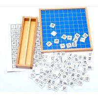 正品蒙氏数学教具 蒙台特梭利 幼儿园儿童早教玩具 1-100连续数板