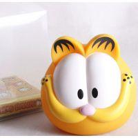 加菲猫搪胶存钱罐 卡通动物存钱罐 创意礼品 六一节礼物 储蓄罐