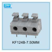 供应KF124A/KF124B 按键式免螺丝接线端子 间距 5.0/7.5