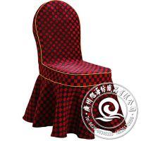 2014厂家批发 简约格子皱纹彩色星级酒店餐厅桌布椅套 新款