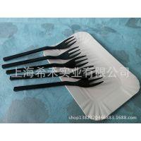 蛋糕房用品蛋糕盘叉组 长方形三齿叉套装 5盘5叉 独立包装盘叉