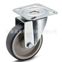 现货供应ELESA带钢板支架的热塑性橡胶脚轮RE.G1-N医疗脚轮
