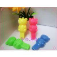 小熊造型小口哨义乌儿童塑料义乌玩具挂件饰品厂家批发哨子