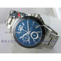 100%实拍康卡斯ETA7750瑞士男士机械手表计时功能 精钢钢带男表D