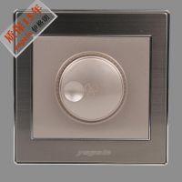 伊格朗开关插座正品特价调速开关插座面板不锈钢拉丝纯平复位插座