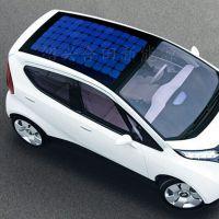 55W车载柔性太阳能电池板 车顶太阳能弯曲板 给12V蓄电池充电