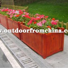景区木制花箱,商业街装饰花盆,路边隔离带花箱