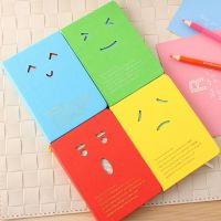 韩国创意文具 韩版潮流表情搞怪镂空硬抄笔记本 日记本