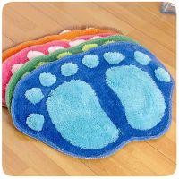 卡通客厅卧室沙发茶几地毯 门垫脚垫浴室吸水可爱大脚丫地垫 批发