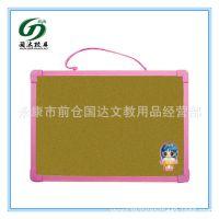 国达新型环保单面塑料边框软木板 软木板小黑板