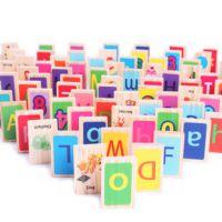 儿童 木制 早教益智 幼教 积木 玩具 多米诺 100片