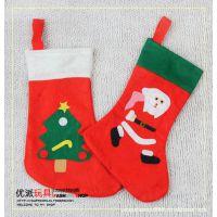 供应圣诞节用品 礼物袋 礼品袋 糖果袋 圣诞袜 圣诞老人袜 42cm