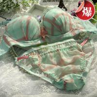 厂家直供正品保证新款梦格仙子聚拢蕾丝公主少女文胸套装