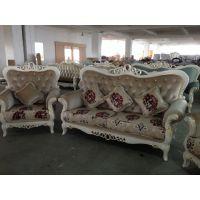 欧式沙发组合家具 实木沙发布艺沙发家用沙发 售楼部样板房间沙发
