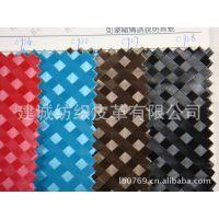 变色格子PU箱包面料双色正方形人造革手袋编织纹皮革正方格子鞋面