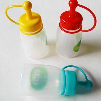 韩国进口厨房用品批发 韩餐厅用品塑料迷你调料瓶番茄酱瓶酱油瓶
