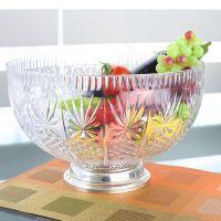 酒店玻璃水果盘 蛋糕类超大号塑料盘子 透明西式托盘