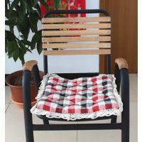 厂家直供田园布艺加厚馒头椅子垫 椅套椅子坐垫单垫餐椅泡泡垫